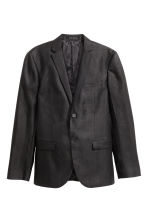 Linen jacket - Black - Men | H&M CN 2