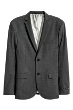 Blazer in lana Slim fit - Grigio scuro - UOMO | H&M IT 2