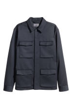 Wool-blend utility jacket - Dark blue - Men | H&M CN 2