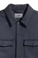 Wool-blend utility jacket - Dark blue - Men | H&M CN 3