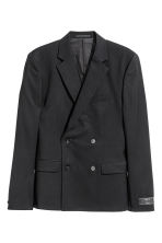 Wool blazer Slim fit - Black - Men | H&M CA 2
