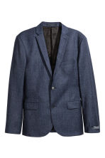 Giacca in misto lana Slim fit - Blu scuro - UOMO | H&M IT 2