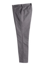 Suit trousers in a linen blend - Grey - Men | H&M CN 2