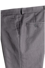 Suit trousers in a linen blend - Grey - Men | H&M CN 4