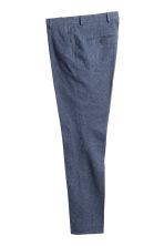 Suit trousers in a linen blend - Dark blue marl - Men | H&M CN 2