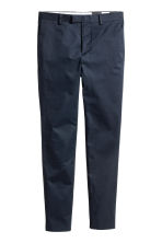 Premium cotton chinos - Dark blue - Men | H&M 2