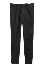 Premium cotton chinos - Black - Men | H&M 3