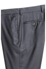Wool suit trousers - Dark blue - Men | H&M CN 4