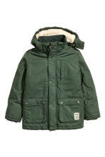 Padded parka - Dark green - Kids | H&M CN 2