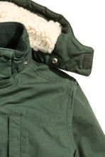 Padded parka - Dark green - Kids | H&M CN 3
