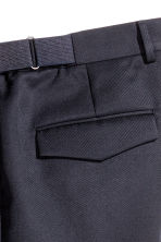 Pantaloni in misto lana - Blu scuro - UOMO | H&M IT 4