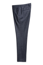 Marled wool suit trousers - Dark blue - Men | H&M CN 2
