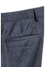 Marled wool suit trousers - Dark blue - Men | H&M CN 4