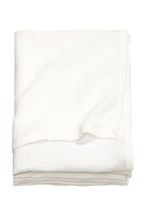 Waffled bedspread single - White - Home All | H&M CN 2