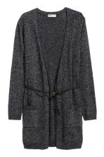 Knitted cardigan - Black marl - Kids | H&M CN 2