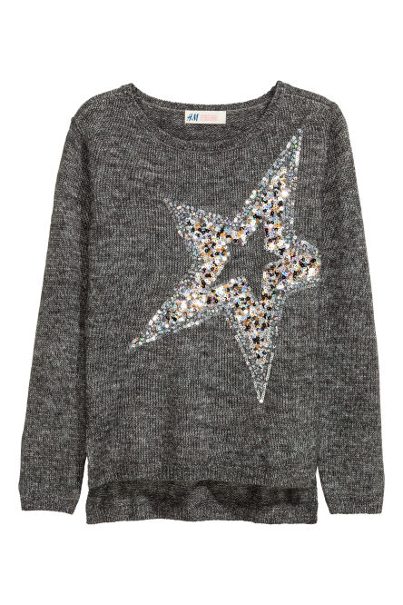 Knitted jumper with sequins