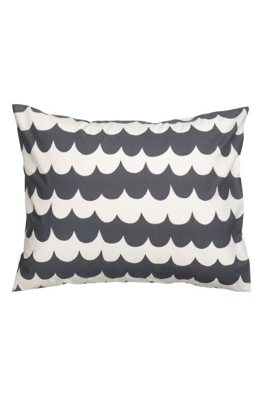 Patterned pillowcase - Anthracite grey - Home All | H&M CN 1