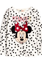 2-pack printed jersey tops - Dark grey/Minnie Mouse - Kids | H&M CN 4