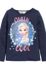 2-pack printed jersey tops - Dark blue/Frozen - Kids | H&M CN 4