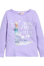 2-pack printed jersey tops - Dark blue/Frozen - Kids | H&M CN 3