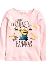 2-pack printed jersey tops - Light pink/Minions - Kids | H&M CN 3