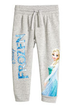Printed sweatpants - Grey/Frozen - Kids | H&M CN 2