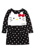 Jersey dress - Black/Hello Kitty - Kids | H&M CN 2