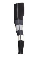 Running tights - Black/Grey - Men | H&M CN 5