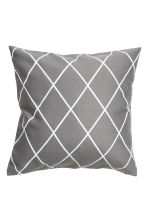 Jacquard-weave cushion cover - Grey/Patterned - Home All | H&M GB 1