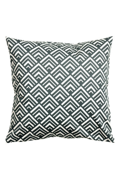 Patterned cushion cover - Dark grey - Home All | H&M CN 1