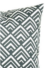Patterned cushion cover - Dark grey - Home All | H&M CN 2