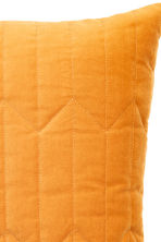 Quilted velvet cushion cover - Mustard yellow - Home All | H&M CN 2