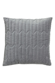 Quilted velvet cushion cover