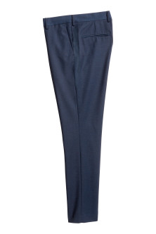 Marled suit trousers