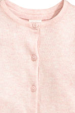 Cotton cardigan - Light pink marl -  | H&M CN 2