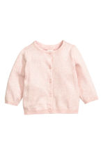Cotton cardigan - Light pink marl -  | H&M CN 1