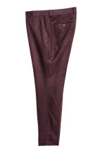 Suit trousers Slim fit - Dark plum - Men | H&M CN 2