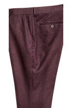 Suit trousers Slim fit - Dark plum - Men | H&M CN 3