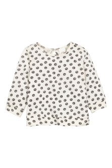 Printed cotton jumper
