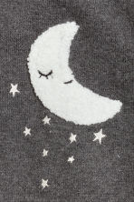 Jumper with appliqué - Dark grey/Moon - Kids | H&M CN 2