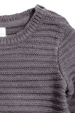 Jumper in a textured knit - Dark grey/Glittery - Kids | H&M CN 2
