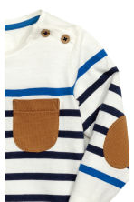 Long-sleeved T-shirt - Natural white/Striped -  | H&M CN 2