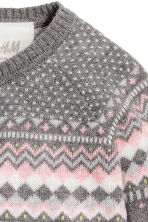 Jacquard-knit jumper - Dark grey - Kids | H&M CN 2