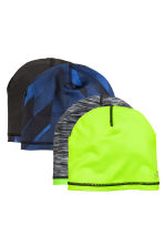 2-pack reversible hats - Lime green/Blue - Kids | H&M CN 1