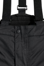 Outdoor trousers with braces - Black -  | H&M CN 3