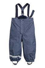 Outdoor trousers with braces - Dark blue marl - Kids | H&M CN 2