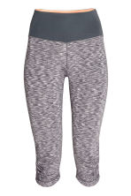 3/4-length yoga tights - Grey marl - Ladies | H&M CN 2
