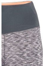 3/4-length yoga tights - Grey marl - Ladies | H&M CN 4