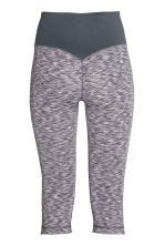 3/4-length yoga tights - Grey marl - Ladies | H&M CN 3