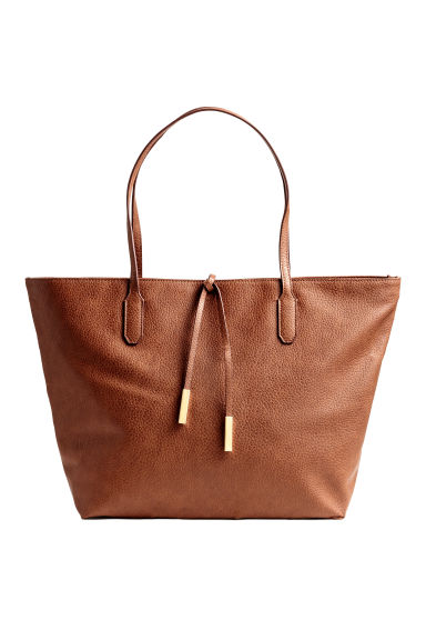 Shopper con stringhe - Cognac - DONNA | H&M IT 1